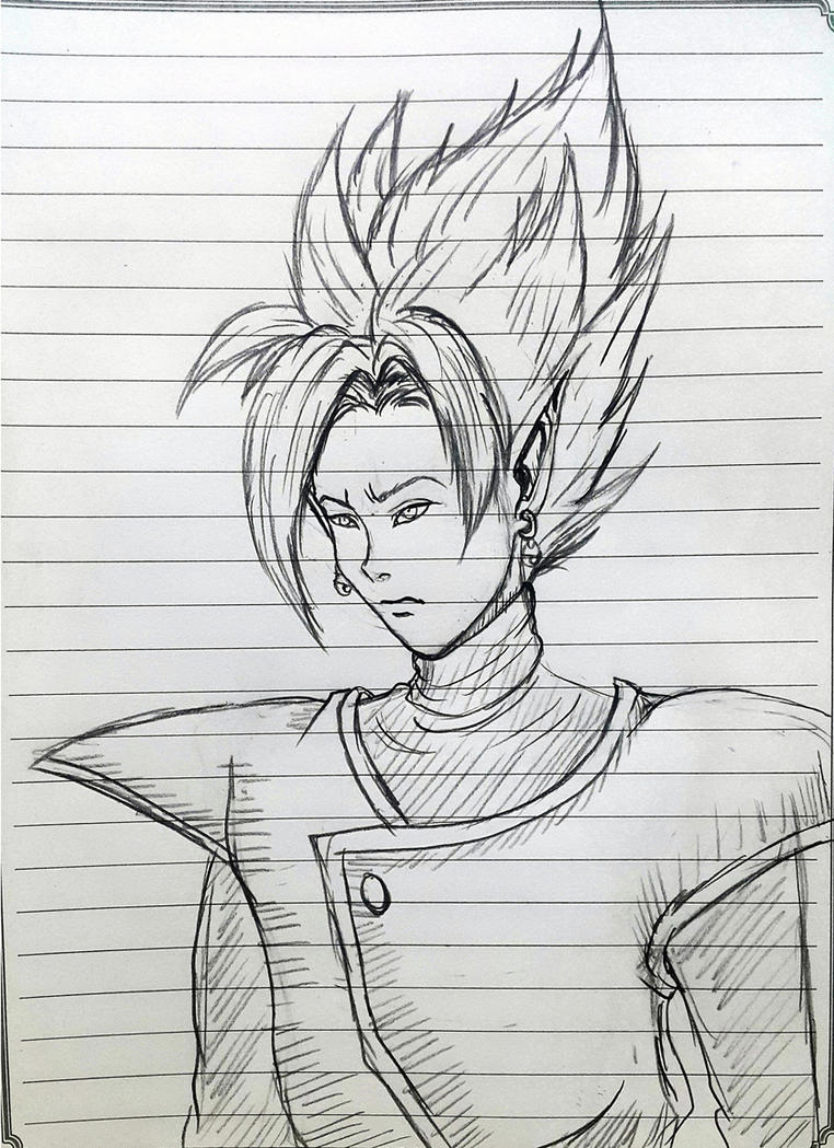 sketch of DBS merged zamasu by ryuu-samazx