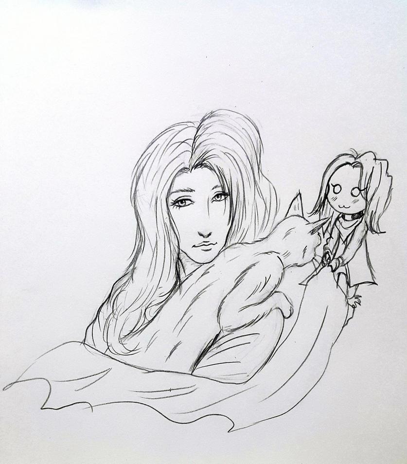 draw gift 2 to milena-zaremba by Jia-Horizon-Artworks