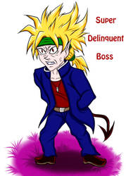 Super Delinquent Boss (colored) by Jia-Horizon-Artworks