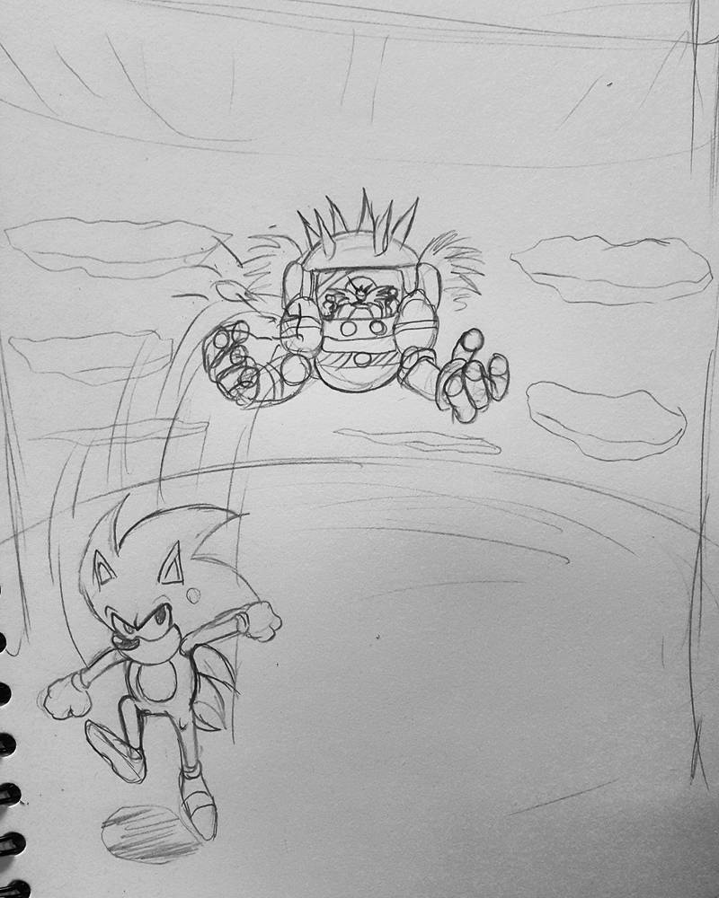 Fast sketch for sonic 3 final boss by Jia-Horizon-Artworks