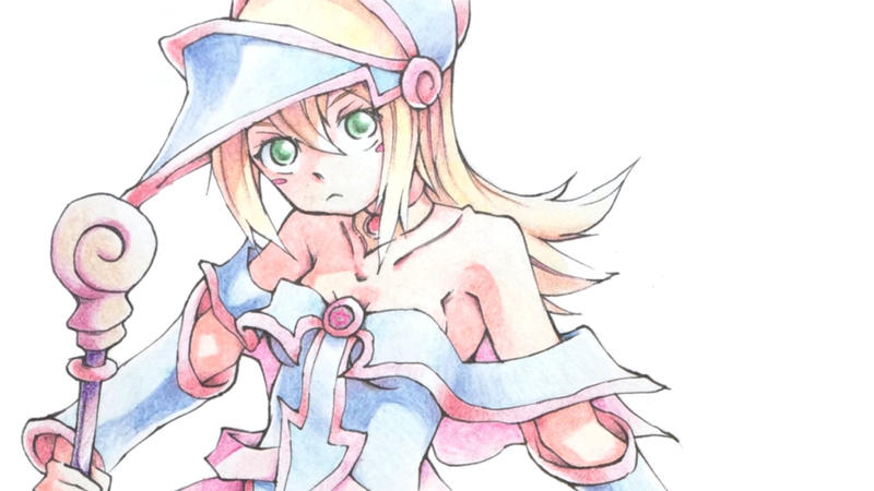 Dark Magician Girl Colored Pencil 2015 by bradlycolin