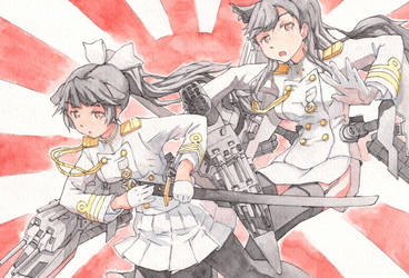 Atago and Takao (Azur Lane) Watercolor 2019