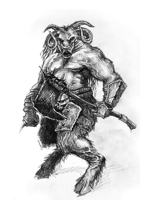 Hombre Bestia I by Alvarocorcin