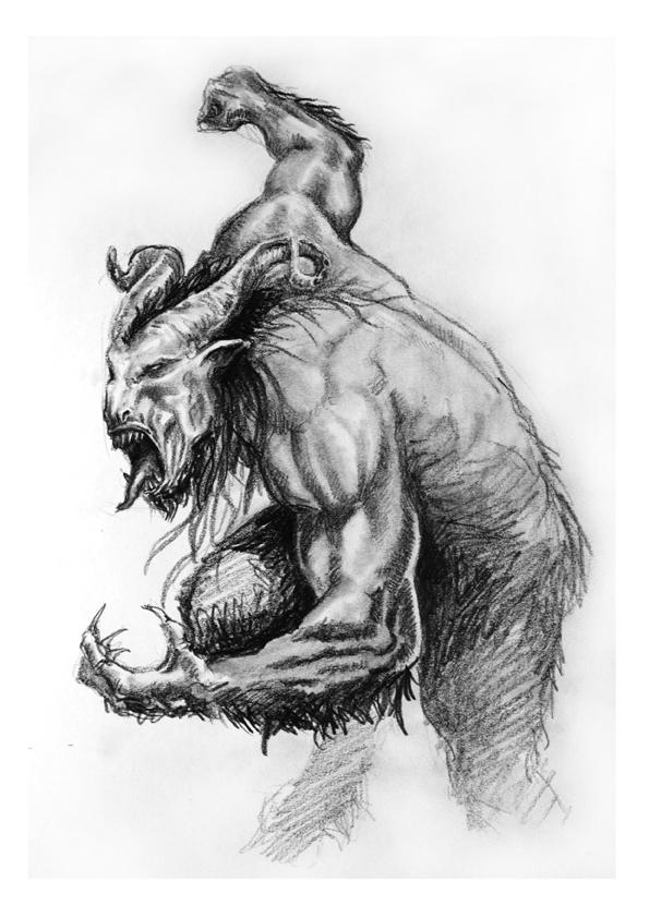 Hombre bestia II by Alvarocorcin