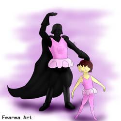 Frisk and Darth Vader (Commission)