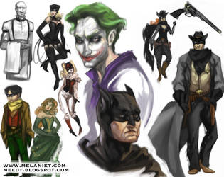 Batman doodles by nefgoddess