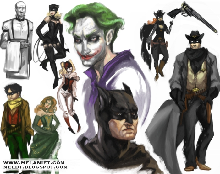 Batman doodles by nefgoddess