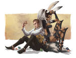 Fran and Balthier - April