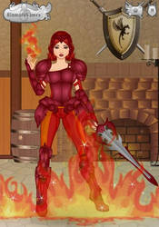 Warrior Flame Princess by Mistywriter