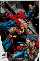 Color on Superman Poster by aladecuervo