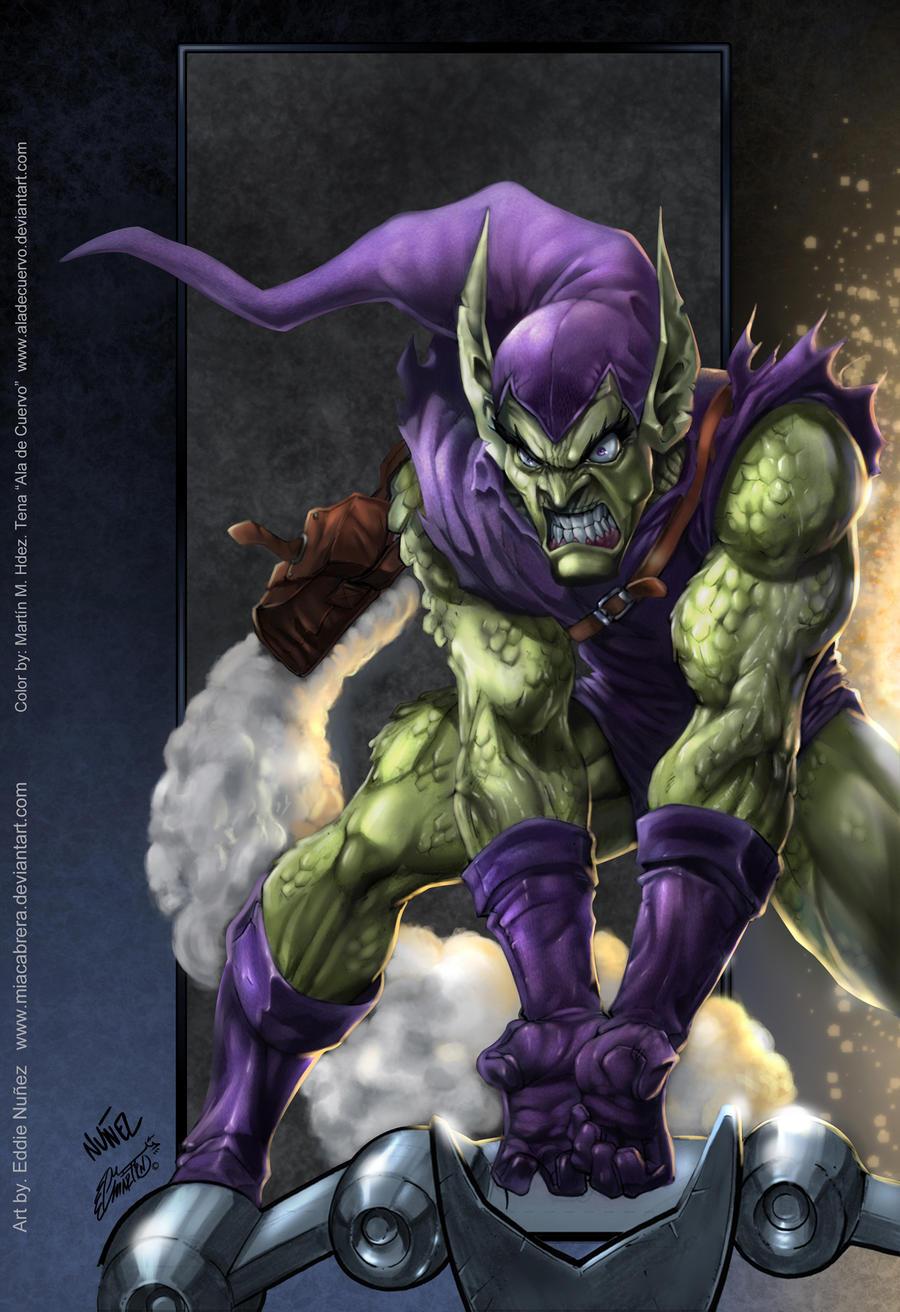 Green Goblin colors by aladecuervo