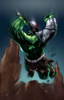 Planet Hulk color by aladecuervo