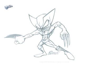 001 Wolverine toon by aladecuervo