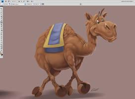 Camel WIP by aladecuervo
