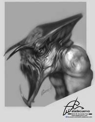Creature design WIP step 3 by aladecuervo