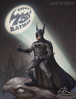 Happy 75's Batman by aladecuervo
