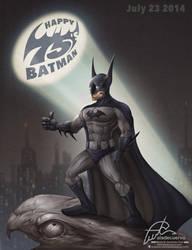 Happy 75's Batman by aladecuervo