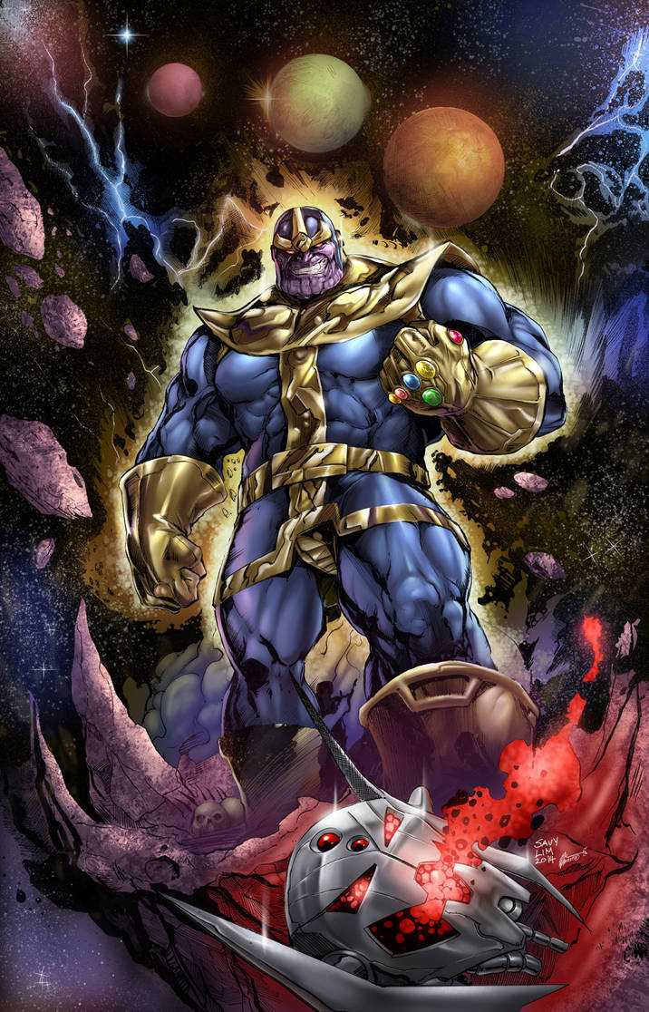 Thanos colors by aladecuervo