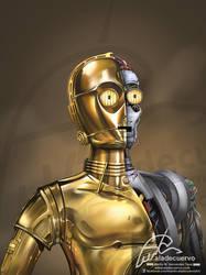C-3PO Tributo a Star Wars