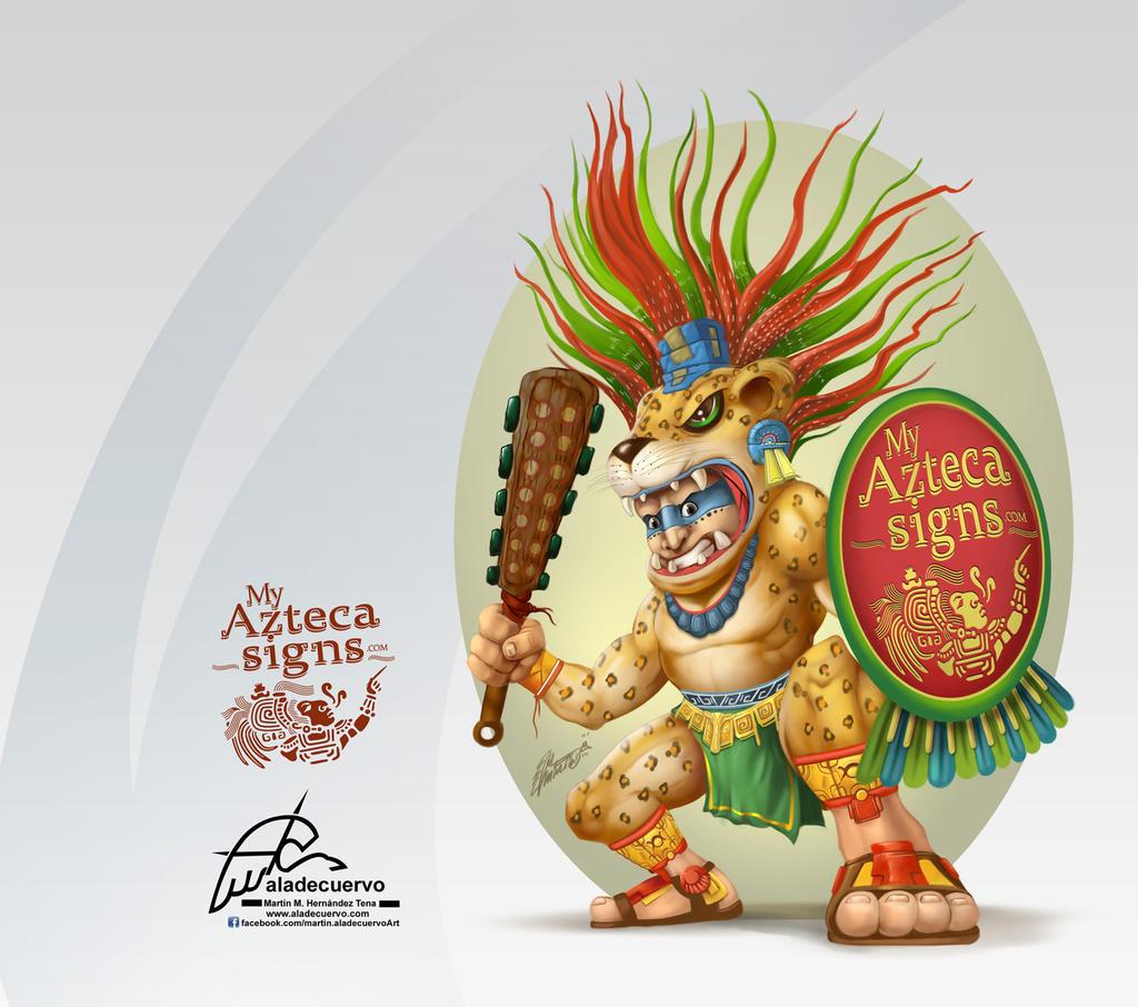 GuerreroJaguar-myAztecaSigns by aladecuervo