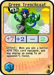 Homestuck PAPCG- Green Trenchcoat by iwantcandy2