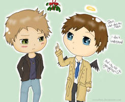 have a very destiel christmas. by Cyra-chan