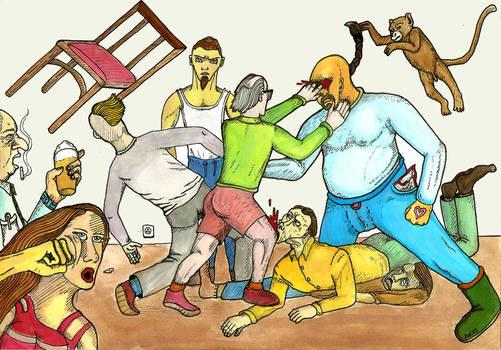 Pub fight
