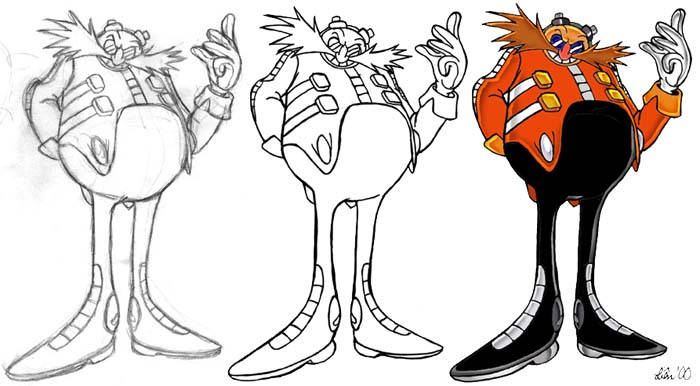 Dr eggman by lilanya on deviantart for Dr eggman coloring pages