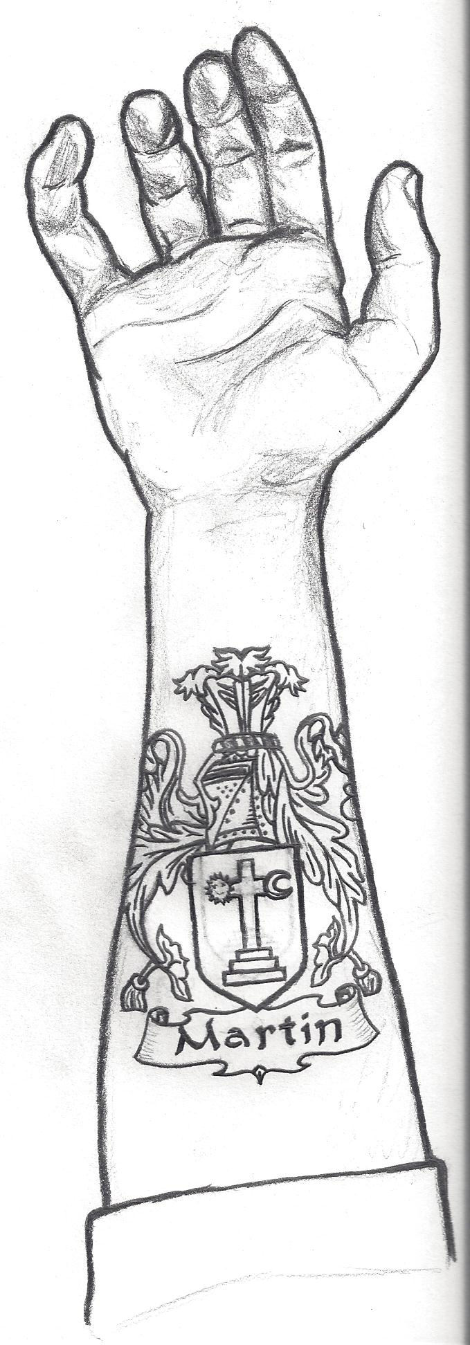 5 martin family crest tattoo by armenoc on deviantart martin family crest tattoo by armenoc buycottarizona Images