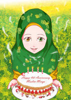 Happy 4th Anniversary Muslim Manga! by nrvrl