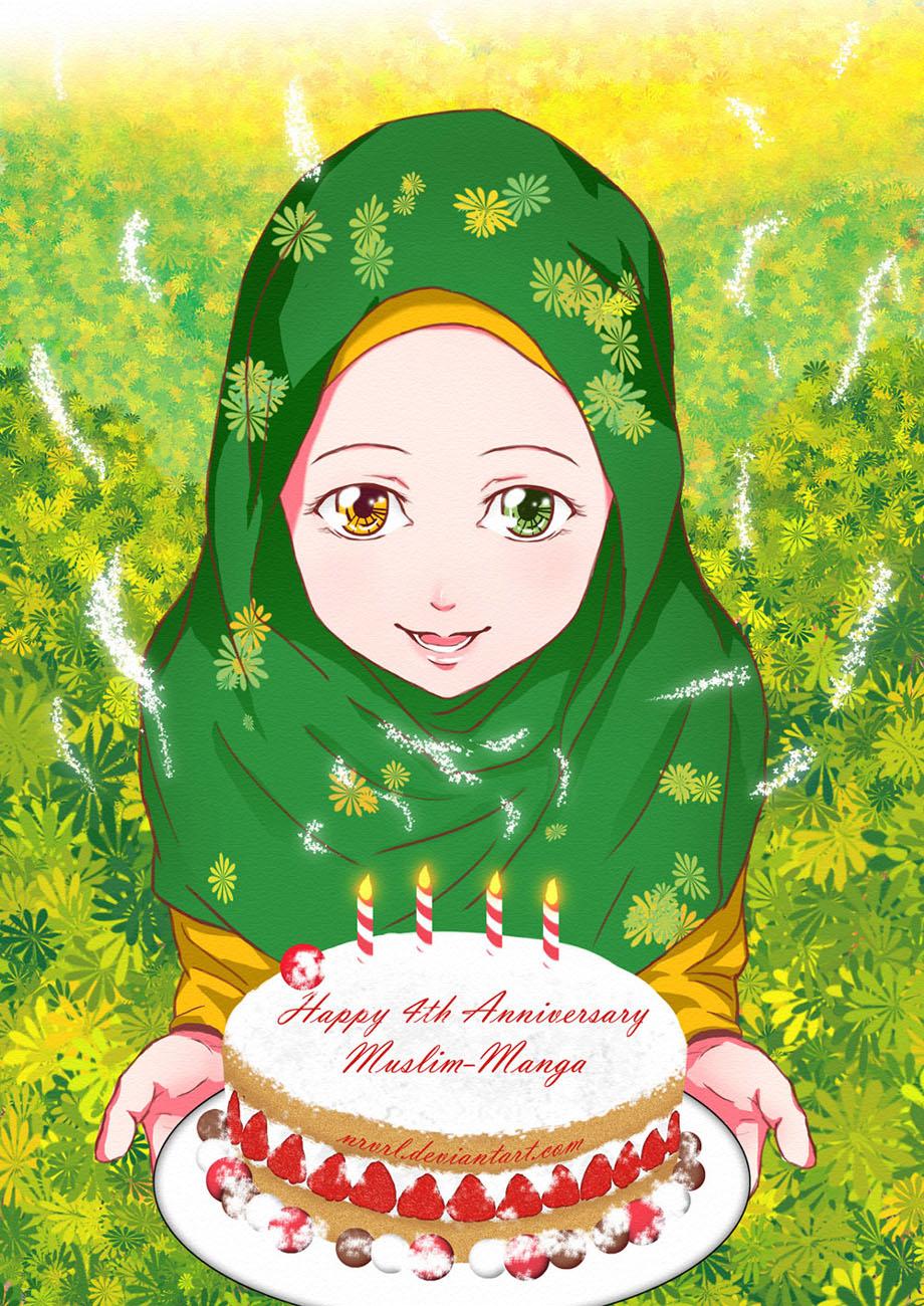 Happy 4th Anniversary Muslim Manga By Nrvrl On Deviantart Wishing A Muslim Happy Birthday