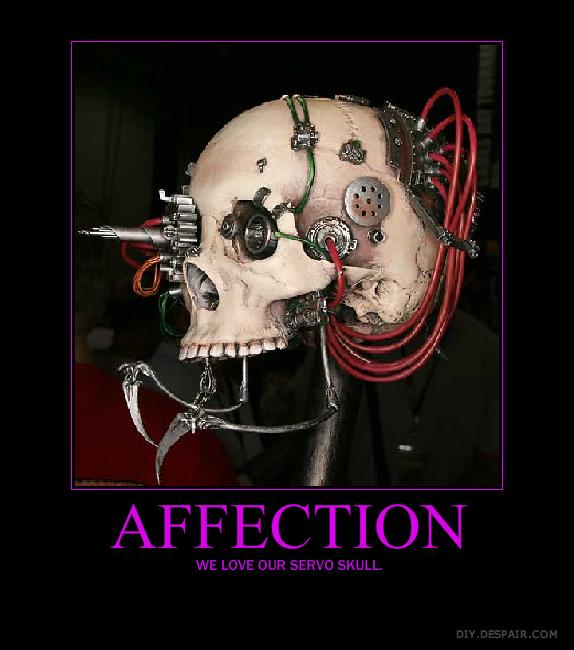 Servo Skull Motivational By Khaotixdemon On Deviantart