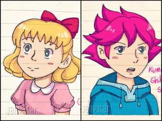 Paula And Kumatora -Studio Ghibli Style- by Jany-chan17