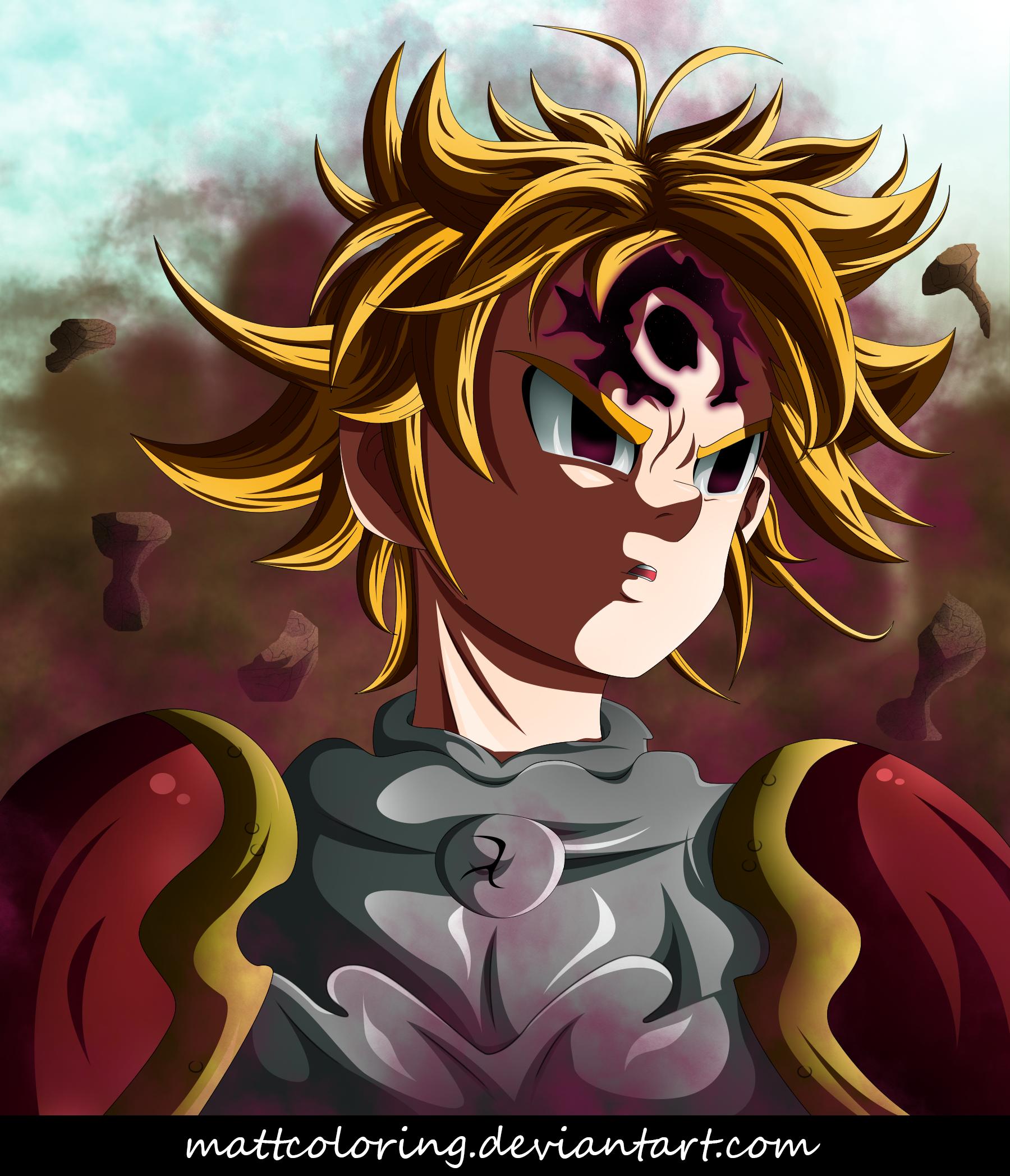 nanatsu no taizai meliodas demon vs merascylla by mattcoloring on