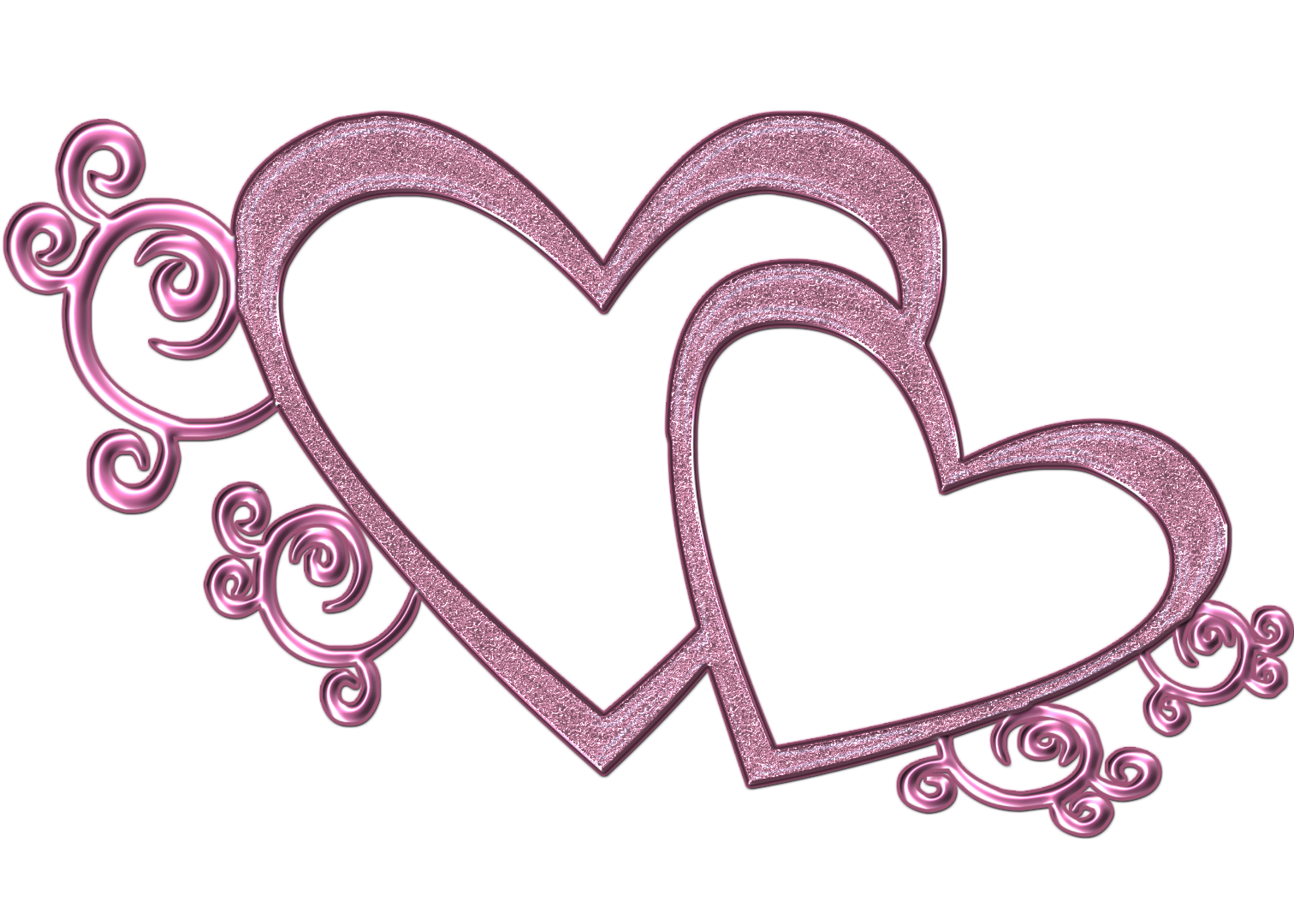Double Heart Clip Art - Viewing Gallery