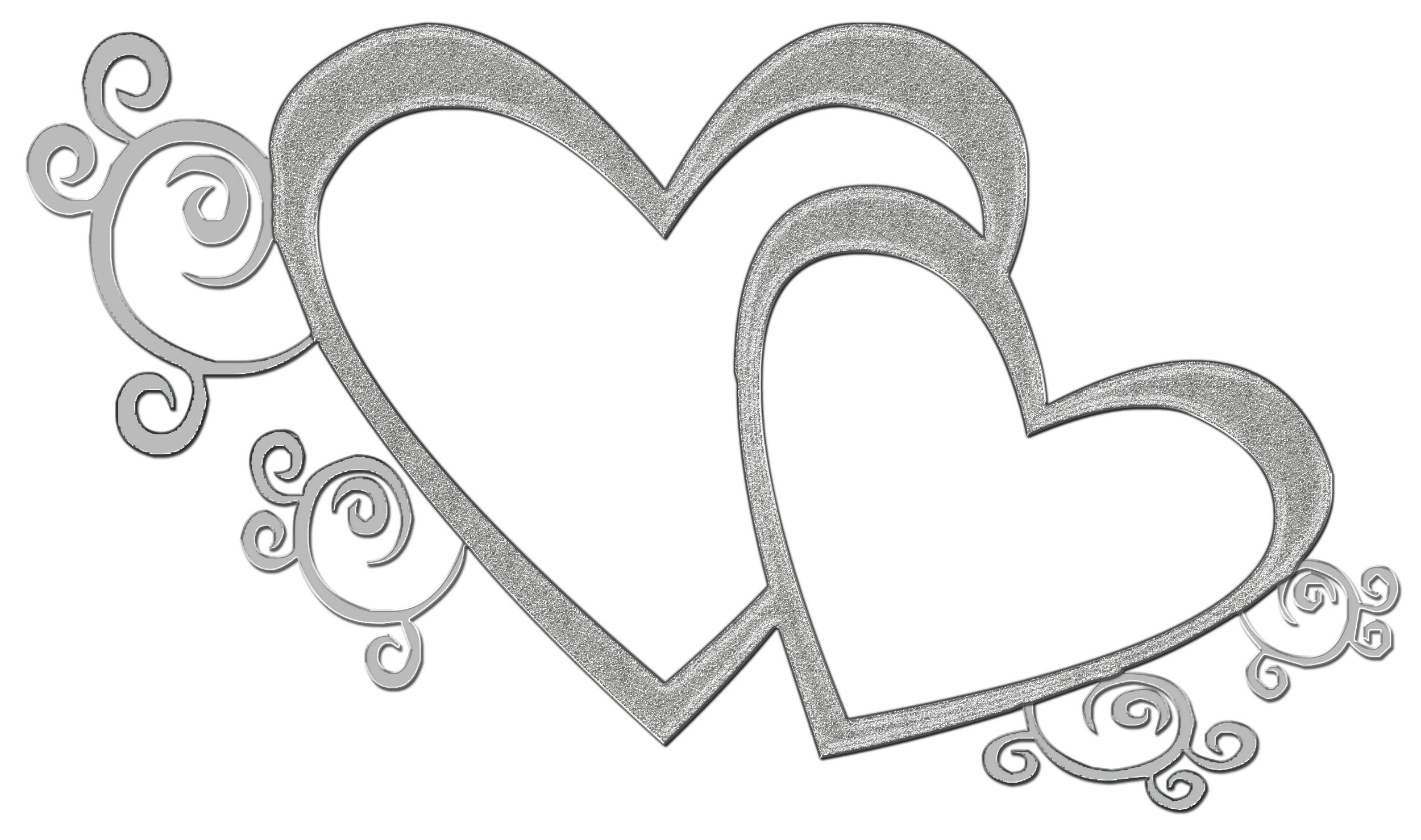 Sliver Double Heart PNG by Princessdawn755 on DeviantArt