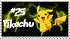Number 25 Pikachu Stamp by Princessdawn755