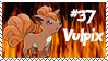 Number 37 Vulpix Stamp by Princessdawn755