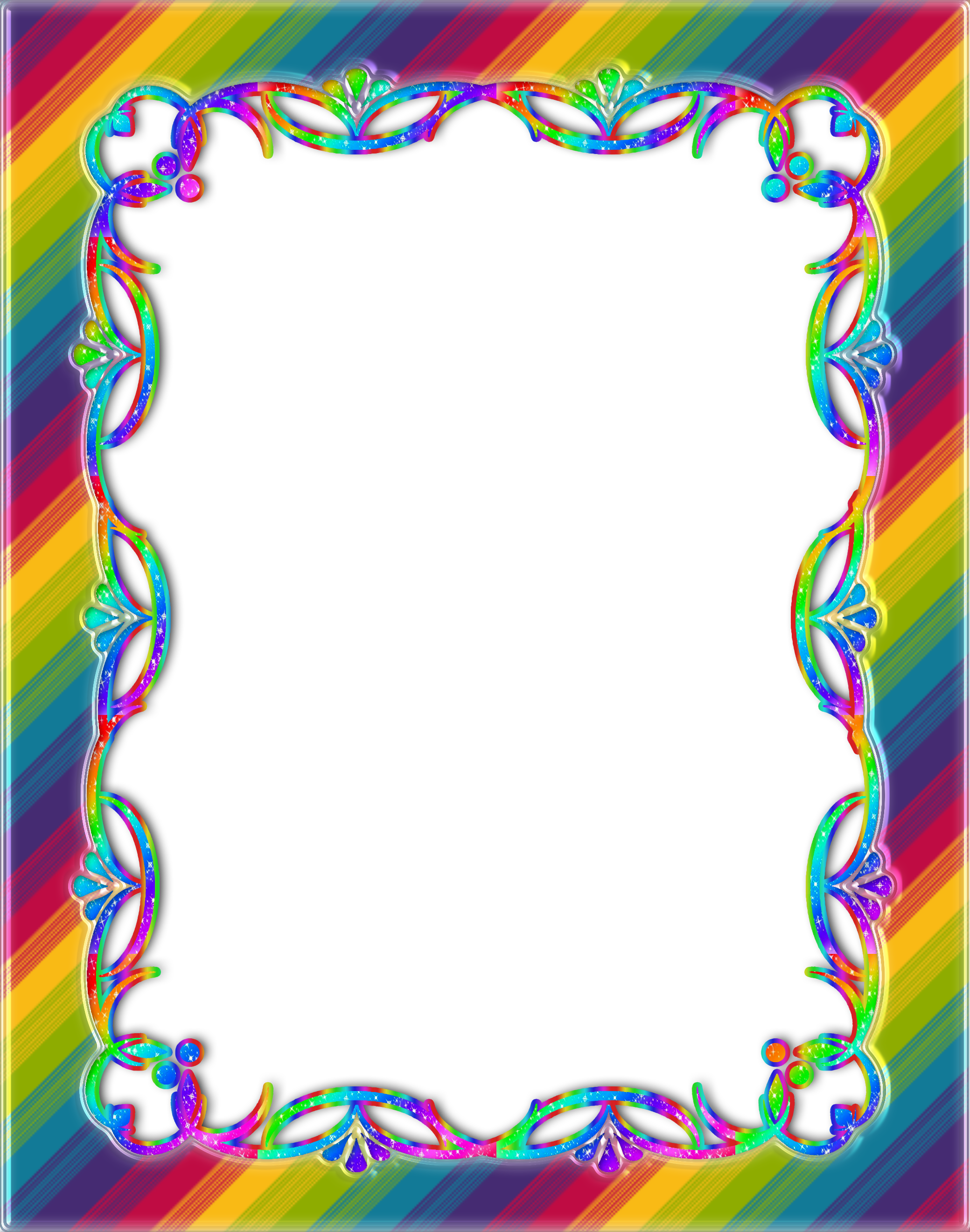 Rainbow Frame by Princessdawn755 on DeviantArt