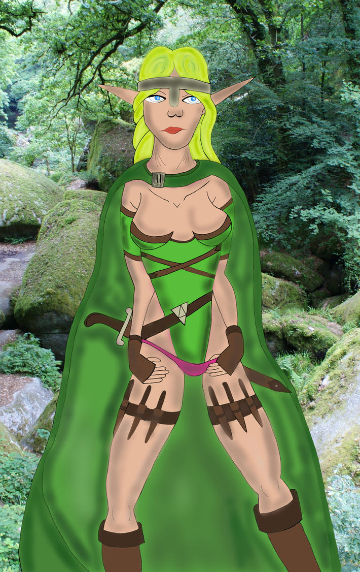 266 Elf Viking COLORED by beedoll