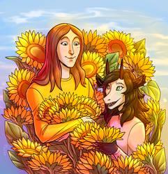 Tosha and Plazmo Sunflovers