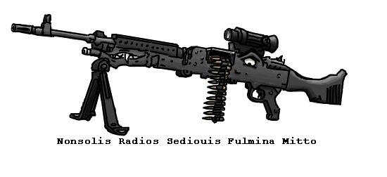I drew a M240B....With a Face!