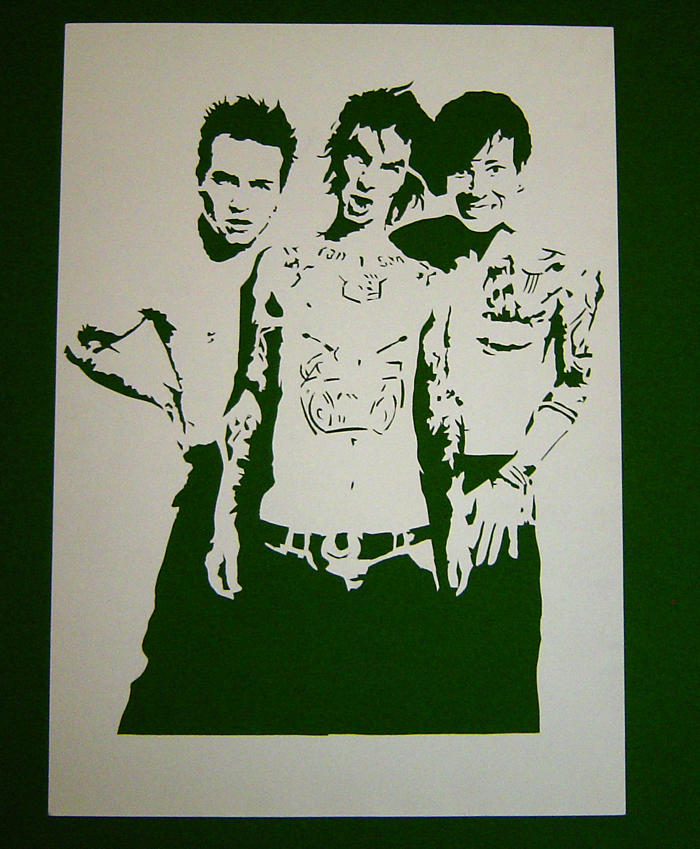 Blink 182 Stencil by Ezekiel-25-17