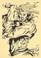 Samurai Stencil by Ezekiel-25-17