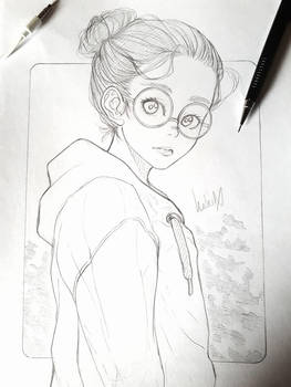 Glasses sketch