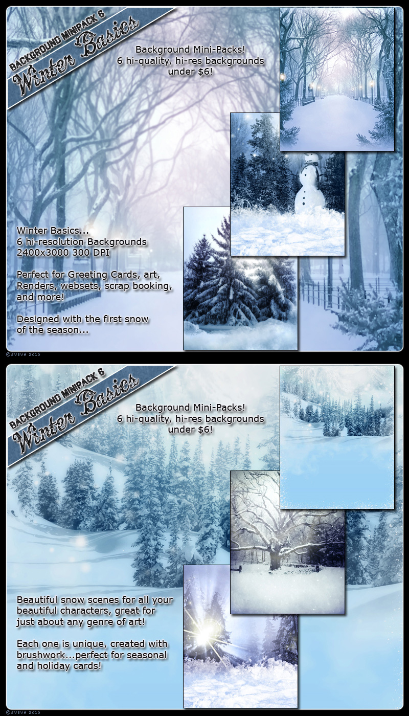 Background Mini Winter Basics by cosmosue