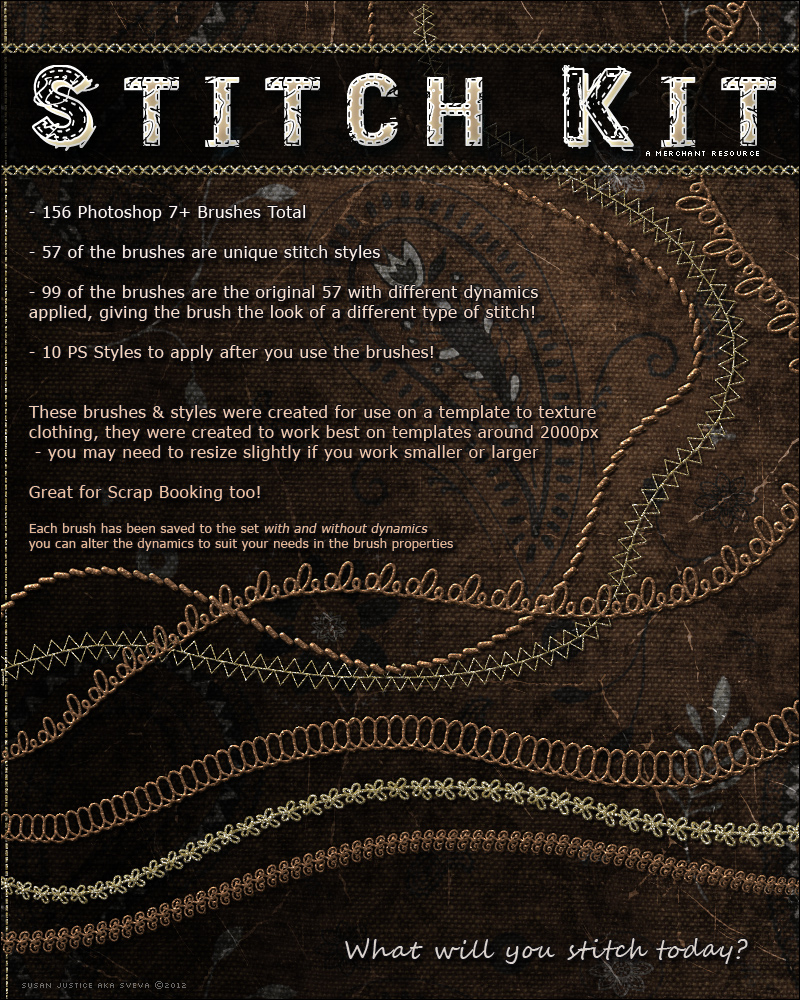 Stitch Kit Brushes by cosmosue