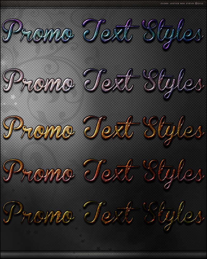 Promo Text Styles 01 by cosmosue