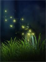 Fantasy Glowflies by cosmosue