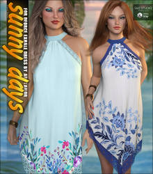 Sunny Days for dForce Exhale Dress G8F by cosmosue